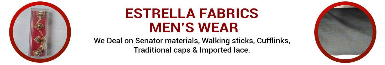 ESTRELLA FABRICS MEN'S WEAR