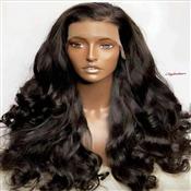 "28"" DEEP CURL HUMAN HAIR FRONTAL WIG"