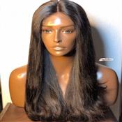 """26"""" HUMAN HAIR FRONTAL WIG"""