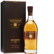glenmorangie scotch, 18 years old.